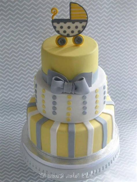 Yellow And Grey Baby Shower Cake by 31 Baby Shower Decorating Ideas With Grey And Yellow Theme