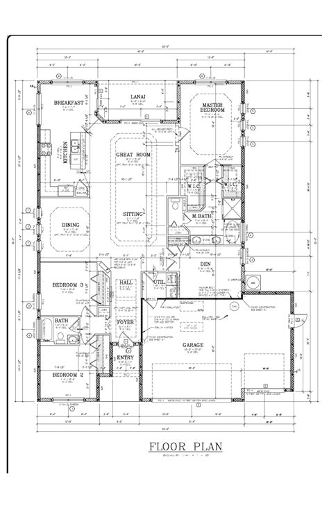 production drafting standard pacific homes plan 1
