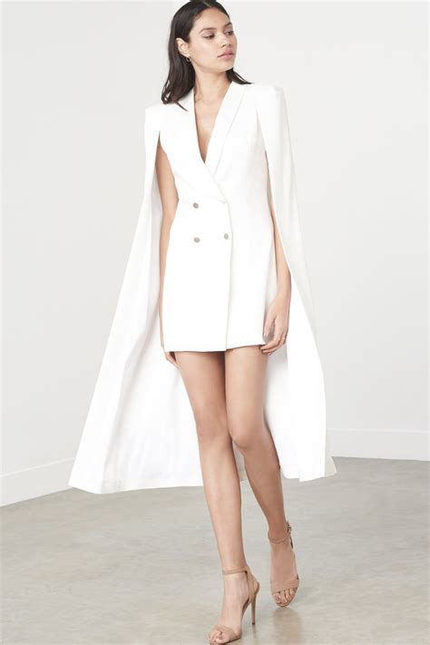 Maxi Dres And Blazer white maxi cape blazer mini dress