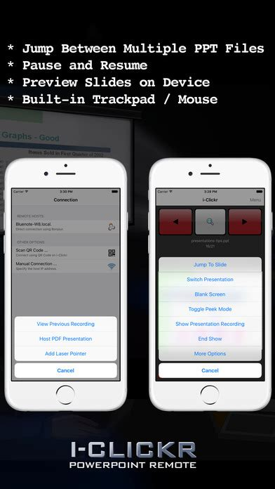 I Clickr Remote For Powerpoint On The App Store Iphone Ppt Presentation