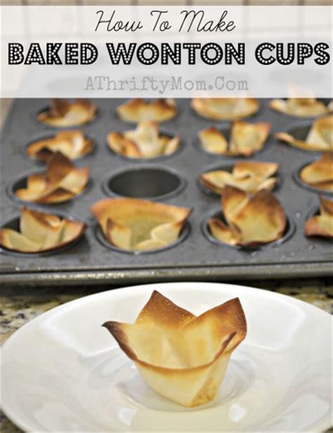 how to make baked wonton cups diy mini wonton cups a