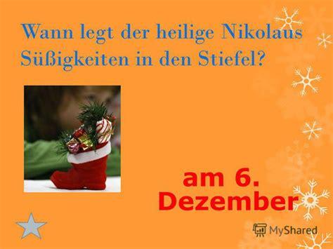 wann ist nikolaustag презентация на тему quot deutsche winterfeste dreik 246 nige