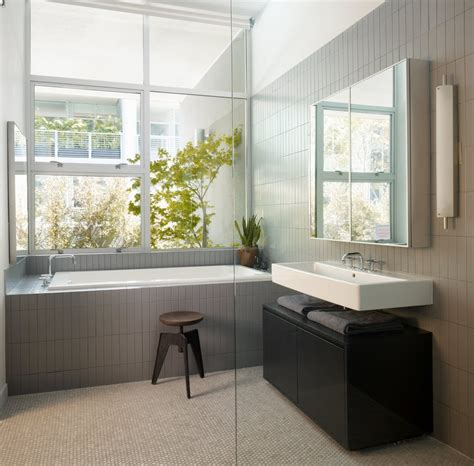 Modern Grey Bathroom Ideas Modern Bathroom Grey Interior Design Ideas