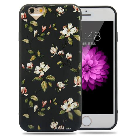 Floral Iphone 6 6s 7 8 X Plus retro flower floral pattern soft tpu cover for iphone