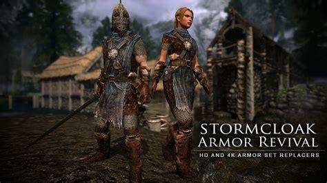 skyrim hot armor replacer stormcloak armor revival hd and 4k textures at skyrim