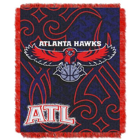nba atlanta hawks tattoo 48x60 triple woven jacquard throw