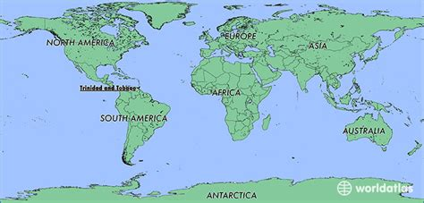 and tobago on the world map where is and tobago where is and