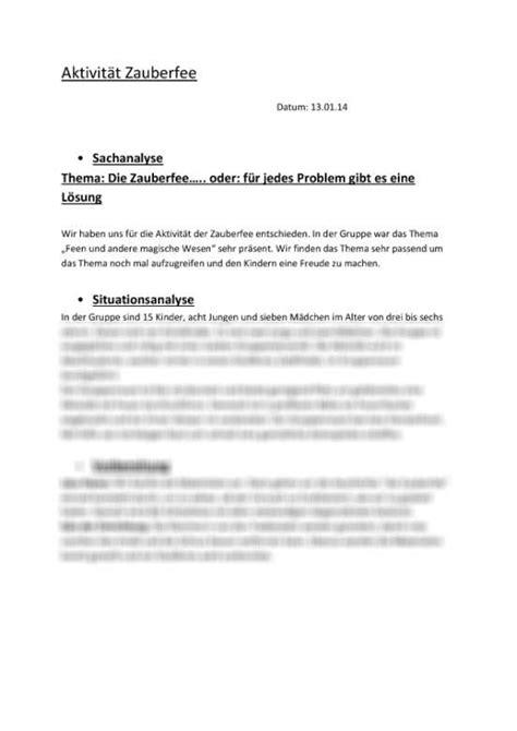 Reflexion Praktikum Kindergarten Vorlage Aktivit 228 Tsplanung Zauberfee Sozialp 228 Dagogik Im Kindergarten Praktikum Anleitung