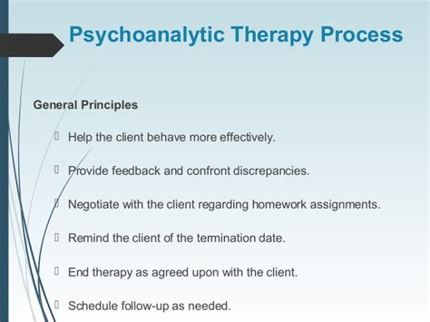 purpose of therapy freud psycoanalysis therapy