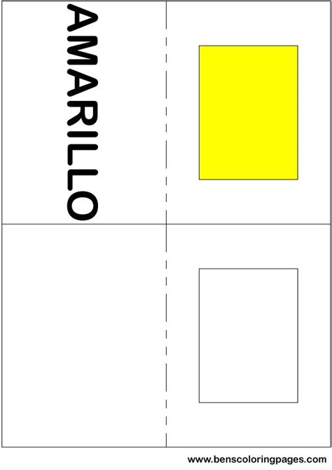 spanish for yellow free coloring pages of colors in spanish