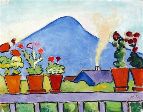 august painting and drawing motionista august macke geraniums before blue mountain painting