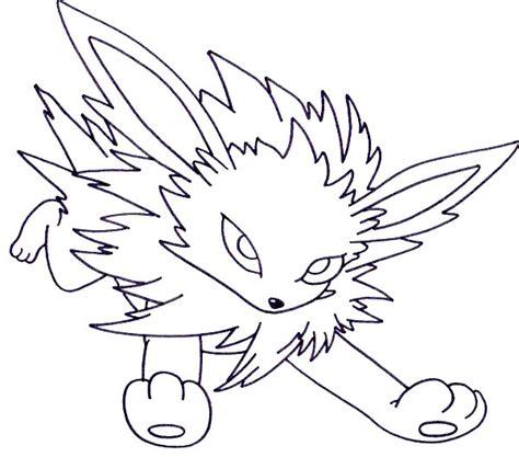 coloring pics of pokemon vaporeon at yescoloring jolteon