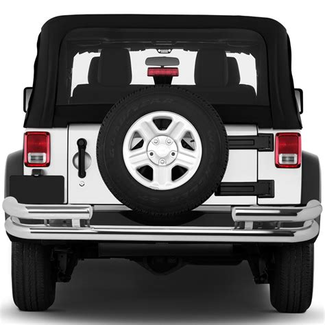 jeep yj rear bumper 87 06 jeep wrangler tj yj double bar rear bumper protector