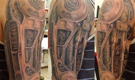 small biomechanical tattoos biomechanical tattoos for ideas and inspiration for guys