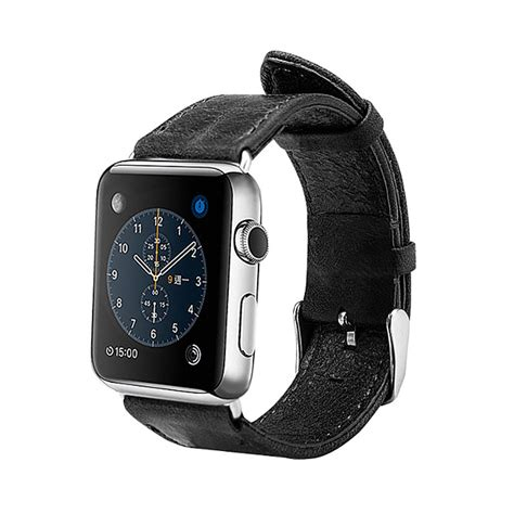 Leather Band For Apple 38mm 42mm black leather apple band 38mm 42mm