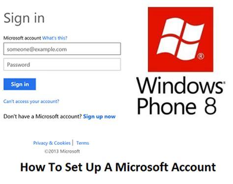 how to create microsoft account microsoft sign up www how to set up a microsoft account tricks and tip 4u