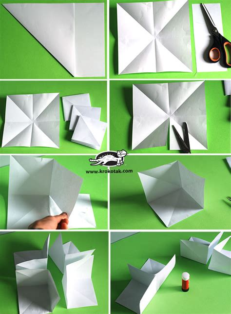 How To Make A 3d House With Paper - krokotak how to make a 3d paper house