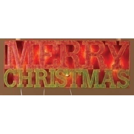 lighted merry christmas sign outdoor 33 quot lighted distressed quot merry quot outdoor decoration sign walmart