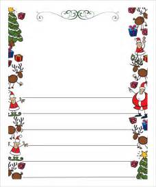 Letter From Santa Word Template Free by Letter Template 9 Free Word Pdf Documents