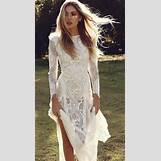 Long Sleeve Lace Wedding Dress Open Back | 600 x 1085 jpeg 147kB