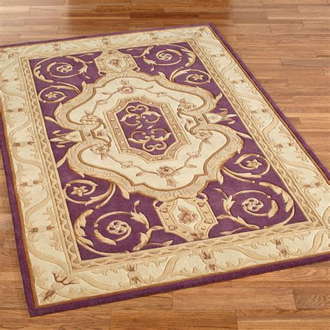 French Accent Rugs | french legacy plum area rugs