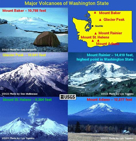 mount st helens other volcanoes picas major volcanoes of washington state glacier peak mount