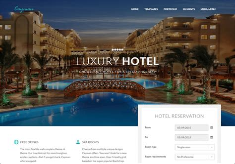 bootstrap templates for hotel management 17 hotel bootstrap themes free premium templates