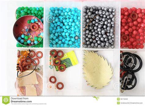Handmade Jewelry Materials - materials to produce handmade jewelry stock photos image
