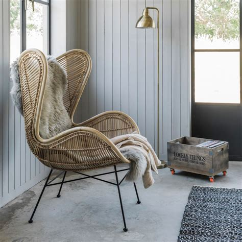 stuhl rattan rattan wing chair seating graham and green