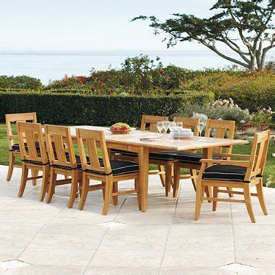 frontgate outdoor dining 2011 melbourne 7 pc rectangular dining set frontgate