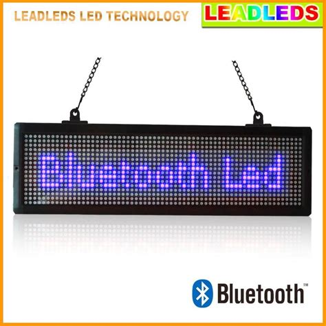 Led Display bluetooth remote led sign programmable scrolling