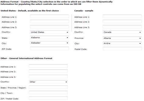 international zip code pattern best pattern for international address forms user