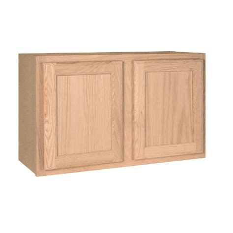 lowes unfinished oak kitchen cabinets shop project source 30 in w x 18 in h x 12 in d unfinished