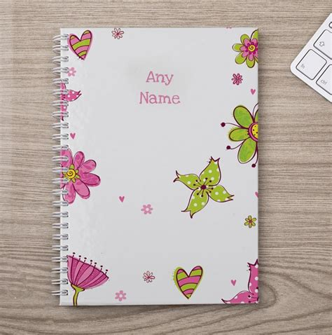 flower design notebooks personalised notebook floral design gettingpersonal co uk