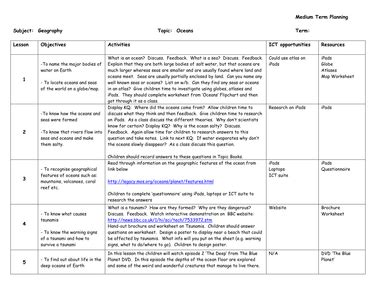 ks2 geography scheme of work ks2 geography oceans resources tes