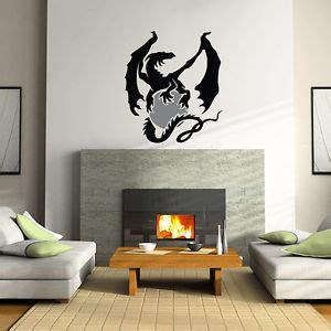 dragon bedroom decor dragon wall decal sticker vinyl decor mural bedroom