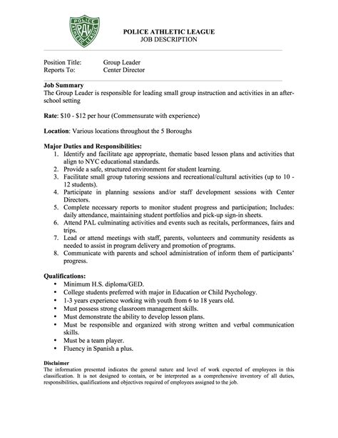 group leader cover letter references on a resume template