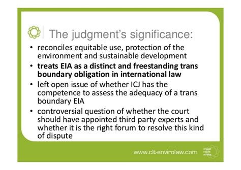 Trans Boundaries Financial Casein International Forum the significance of the icj decision in pulp mills on the river urugu