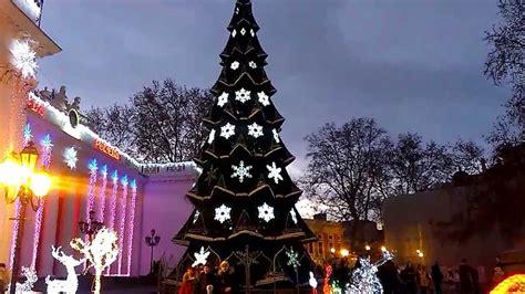 ukrain net on christmas tree новогодняя ёлка в одессе 2013 2014 tree in odessa ukraine 2013 2014