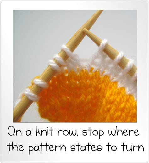 how to turn in knitting row how to wrap and turn and knit rows