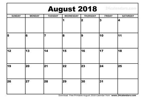 printable calendar 2018 august printable monthly calendar august 2018 yspages com