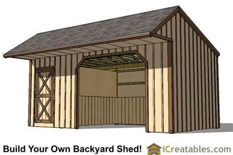 Tack Shed Plans by 12x22 Run In Shed Plans With Tack Room