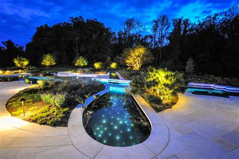 landscape lighting near pool swimming pool landscaping ideas