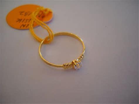 Cincin Emas Variasi Putih 14 nazman enterprise cincin pertunangan perkahwinan