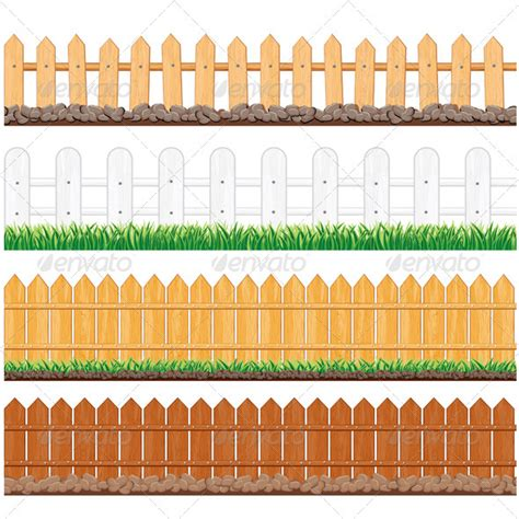 isolated fences graphicriver
