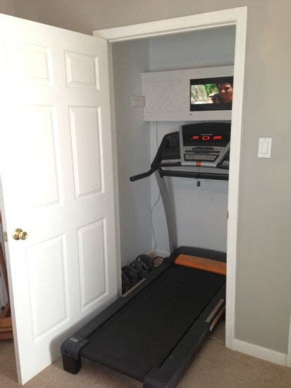treadmill armoire i don t like running on a treadmill but if i did this