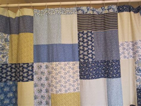 Patchwork Panels - how to make a quilt top into a shower curtain your
