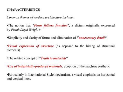 contemporary architecture characteristics modern architecture history