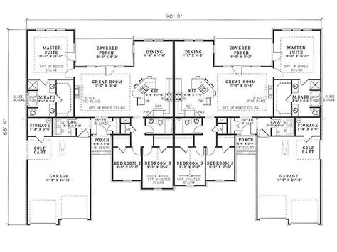 Unique Duplex Plans by 181 Best Multi Family Plans Images On Duplex