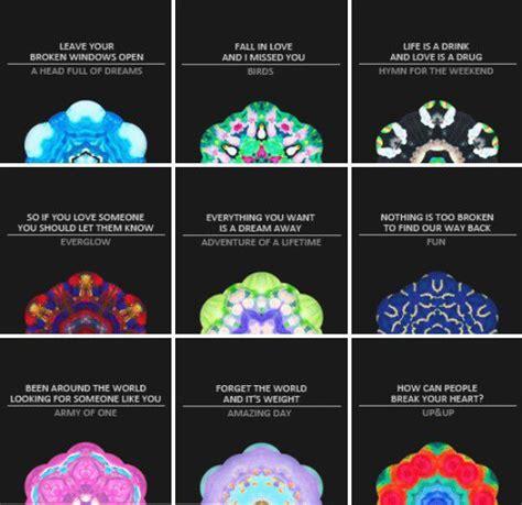 coldplay kaleidoscope lyrics 17 best images about viva la vida on pinterest the